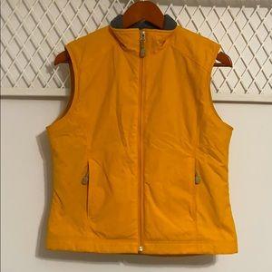 L.L. BEAN Women's Fleece Lined Vest Yellow Orange